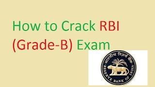 how to crack rbi grade b exam