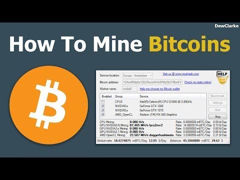 How to mine bitcoins (Easy Way)