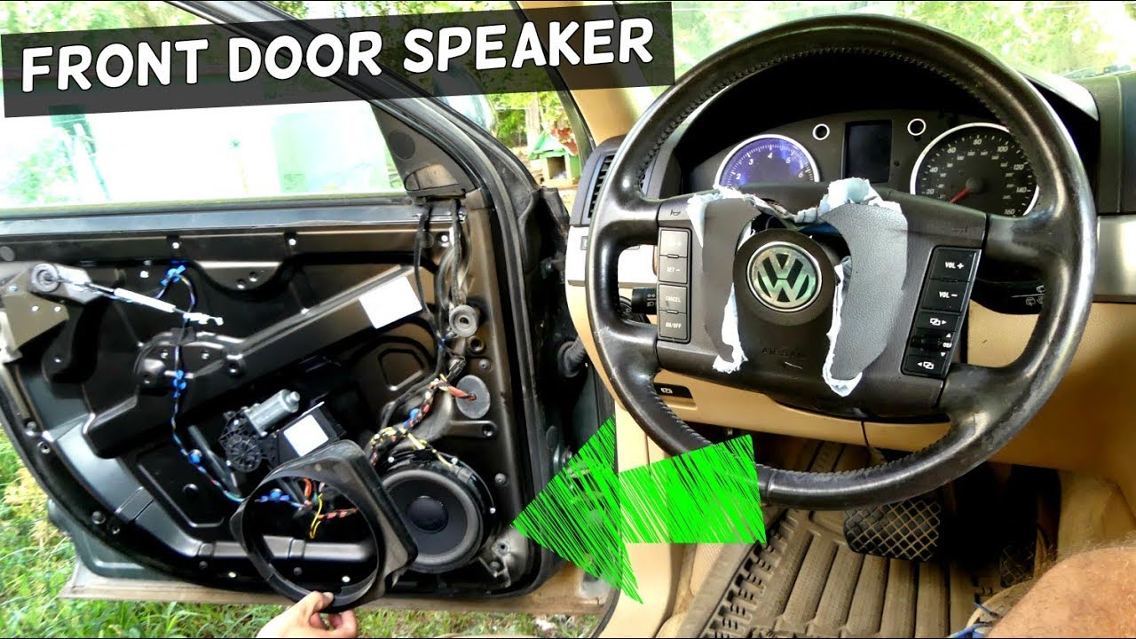 how to remove and replace front door speaker on vw touareg youtube. Black Bedroom Furniture Sets. Home Design Ideas