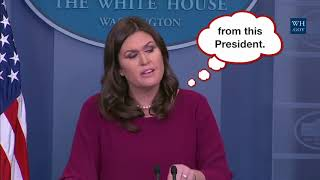 White House Press Secretary Sarah Sanders describes Trump's pathological lying