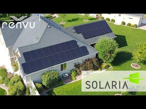 SOLARIA Solar Panels Installed on Home   RENVU