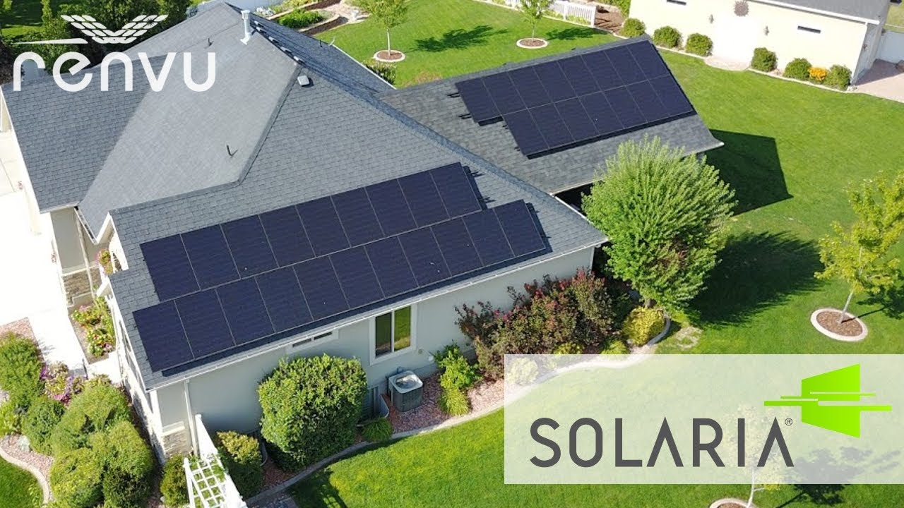 Solaria Solar Panels Installed On Home Renvu Youtube