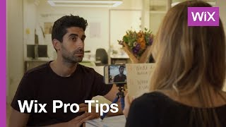 Wix Video   How to shoot a testimonial video
