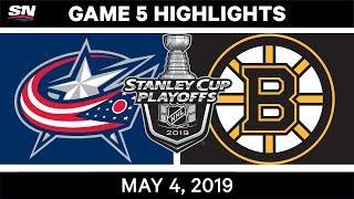 NHL Highlights | Blue Jackets vs. Bruins, Game 5 – May 4, 2019