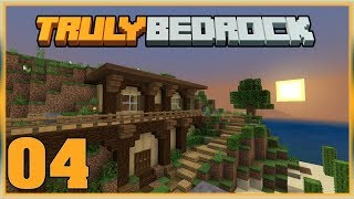 Truly Bedrock S0 EP4 : Starter Base / House?  [ Minecraft, MCPE, Bedrock Edition,Windows 10 ]