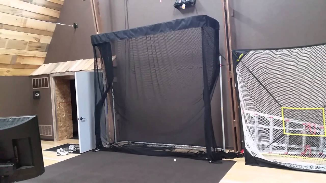 Indoor golf net - YouTube