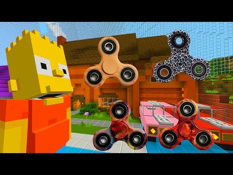 Bart Gets A Fidget Spinner  | The Simpsons | Minecraft Xbox [63]