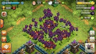 Clash of clans - 120 MAX LEVEL MINIONS ATTACK