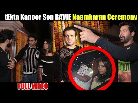 Ekta Kapoor New Baby 'Naamkaran' Ceremony | B-Town Celebrities Mela To Bless Ekta & Ravie Kapoor
