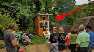 Bocah 13th ini bikin rumah kecil sendiri, begitu pintu dibuka semua orang takjub lihat dalamnya