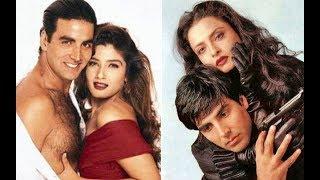 अभिनत्री रेखा अक्षय कुमार के प्यार में दीया अपना सब कुछ! Akshay Kumar, Rekha, Raveena  Love Story!