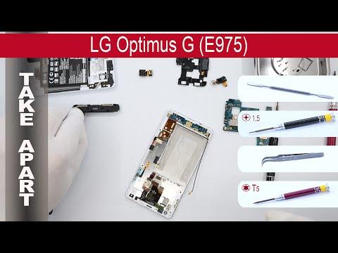 How to disassemble 📱 LG Optimus G E975, Take Apart, Tutorial