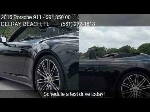 2016 Porsche 911 Carrera 4 Black Edition Awd 2dr Convertible Youtube