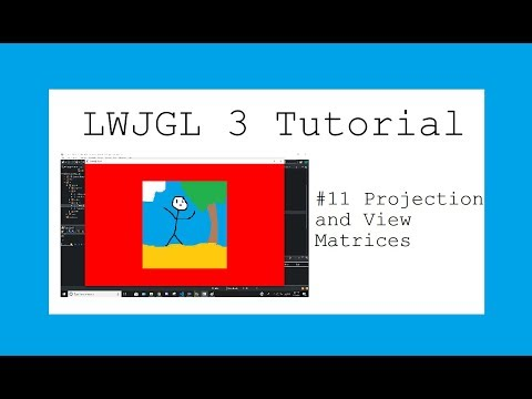 New LWJGL 3 3D Game Tutorial - #11 Projection and View Matrices thumbnail