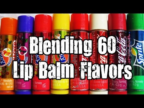 Blending 60 Lip Balm Flavors - Blendurrr *Vomit Alert*