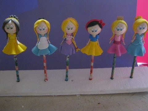 Fofulapiz princesa bella de disney en foamy o gomaeva pap - Fiestas infantiles princesas disney ...
