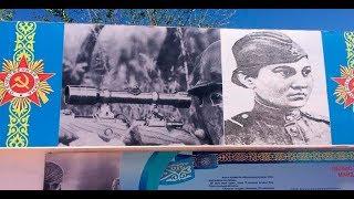 На мемориале победы повесили плакат немецкого снайпера