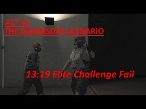 GTA 5 Online Act 3, (13:19, 2P, Elite Challenge Fail(146 headshots))
