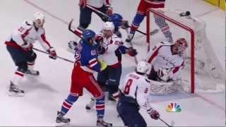 Artem Anisimov goal. Washington Capitals vs NY Rangers 4/28/12 NHL Hockey