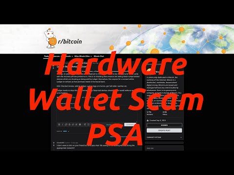 Hardware Wallet Scam PSA