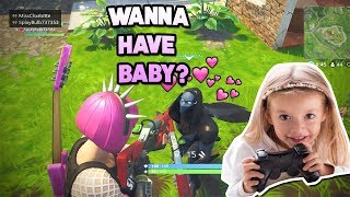 6 YEAR OLD GIRL FINDS A BOYFRIEND IN FORTNITE (hilarious)
