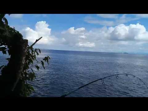 Mancing mania at Mountain side of Anggaduber, Biak, Papua province