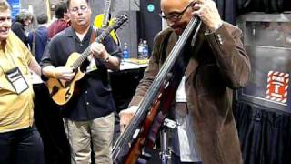 John B. Williams jamming on the Bunny Brunel Electric Upright Bass, NAMM 2010