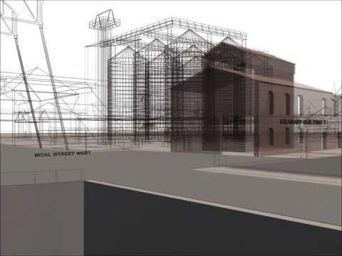 Autodesk 3ds Max - Grain Silos, South Quay, King's  Lynn. Norfolk -- Animation 1 of 2