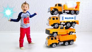 Max Unboxing New Cars and Increased toy cars with a Magic Wand