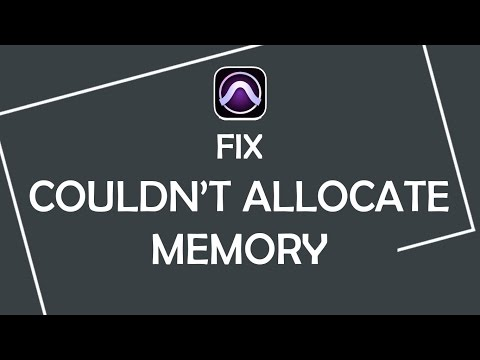 "How to fix ""Couldn't allocate memory for the disk cache."" error in Pro Tools"