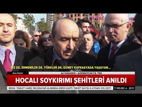 Hocalı Soykırımı Şehitleri İstanbul'da Anıldı. Azerbaycan CB. Yrd. Ali Hasanov Törene Katıldı.