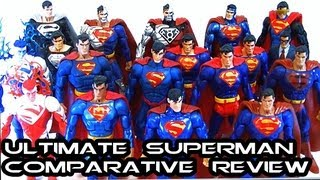Ultimate DCUC/DCSH SUPERMAN: Man of Steel Comparative Figure Review (EVERY FIGURE)