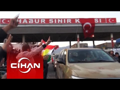 Peşmergeler, Habur Sınır Kapısı'ndan Türkiye'ye giriş yaptı