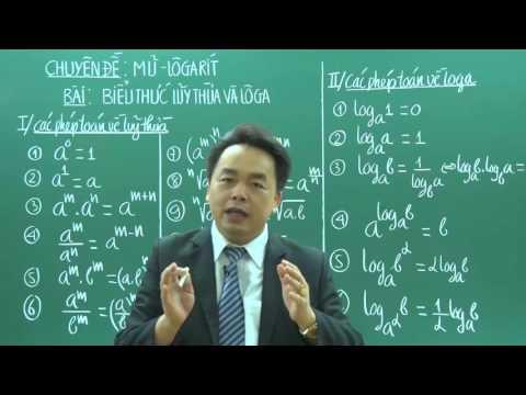 Biểu Thức Lũy Thừa Và Loga - Lớp 12 - Thầy Lê Bá Trần Phương - PEN-C 2018