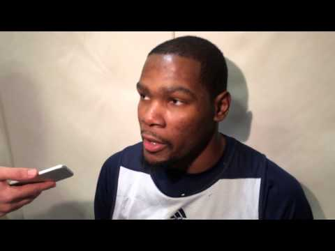 Durant: Shootaround in Golden State