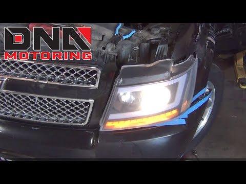 How to Install 07-13 Chevy Avalanche Tahoe / GMC Suburban Headlights