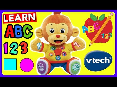 Learn ABC With VTech Chat & Learn Reading Monkey!  Learn ABC Alphabet, 123 Numbers, Shapes!
