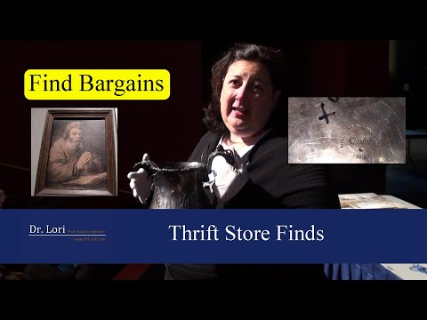 Thrift Store Finds under $10 - Prints & Silver Bargains by Dr. Lori