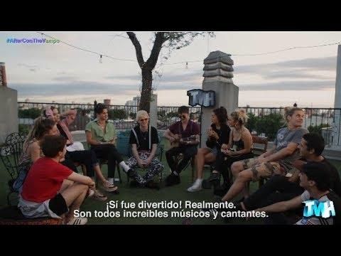 The Vamps interpretando hits en versión acústica con artistas argentinos