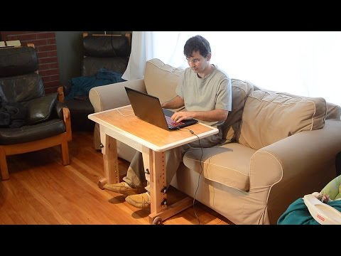 Knock-down laptop table for couch / standup desk