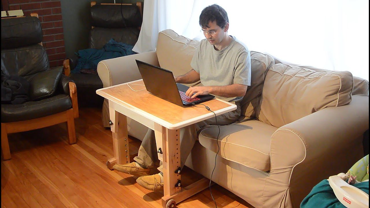 Knock down laptop table for couch standup desk