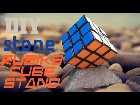 How to make stone rubik's cube stand, EASY