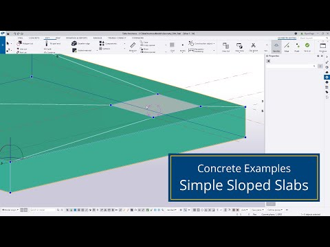 Simple Sloped Slabs in Tekla Structures
