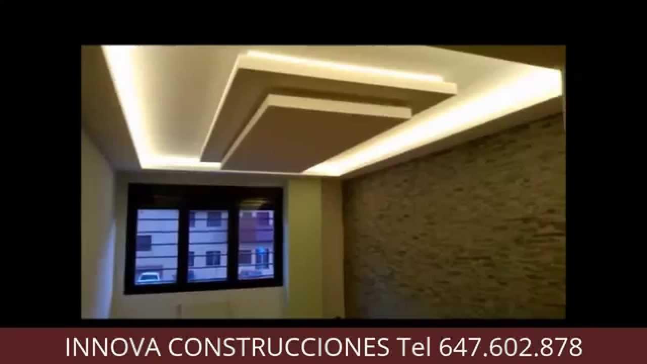 Innova construcciones falso techo pladur con iluminacion - Iluminacion de techo ...