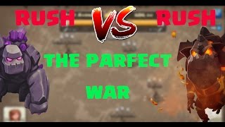 RUSH VS RUSH | THE PARFECT CLAN WAR | SIX PACK ATTACK REPLAYS | CLASH OF CLANS