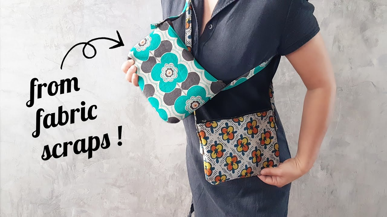 Sew a Small Zipper Purse from Fabric Scraps !! Adjustable Straps Too ! - YouTube