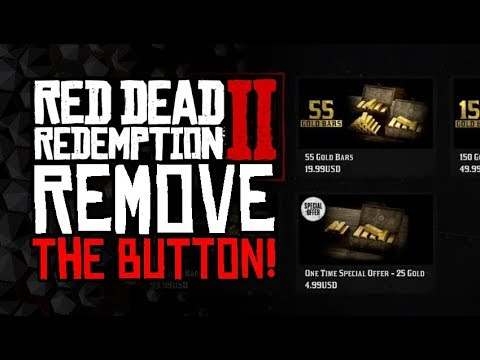 Rockstar - REMOVE THIS BUTTON From red Dead 2 Online