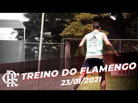 TREINO FLAMENGO – Tudo pronto para o confronto com o Athletico-PR