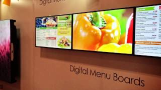 Netvisual at The Restaurants Canada Show 2015 - Digital Menu Board - Video Wall