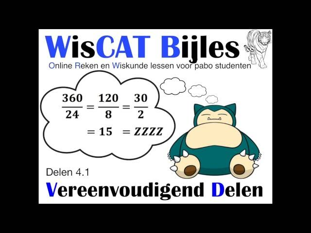Vereenvoudigend Delen - WisCAT Werkboek: Delen 4.1